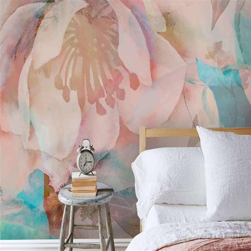 Custom Wallpapers for Walls 3D Photo Wallpapers for Living Room Home Decor Creative Wall Murals Pink Flowers Wall Papers 3D Rose