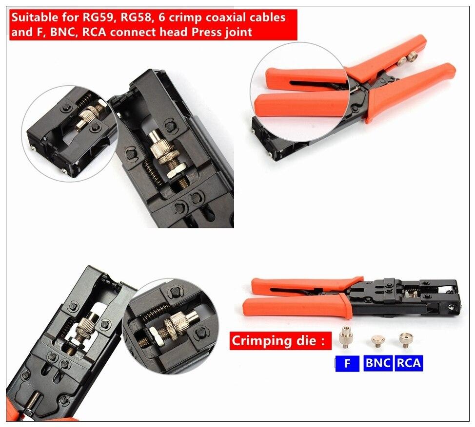 Multifunktionale Einstellbare Coax presskabel Stecker Crimpzange ...