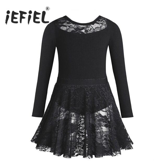 1a472d47c76a iEFiEL Ballet Tutu Costumes for Girls Long Sleeves Dancewear Class ...