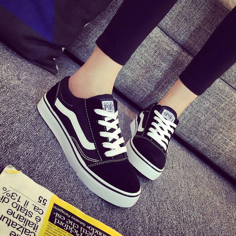 las zapatos mujeres planas negro de mujer casuales mujer señoras de zapatos para en zapatos deportivos oxford Zapatillas pisos zapatos Zapatos blanco y lona f4PTnqwq8