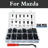 240x Car Fastener Moulding Clips Clips Storage Box Rivets For Mazda Mps Atenza Axela Az Offroad Carol Cx 3 Cx 5 Cx 7 Cx 9