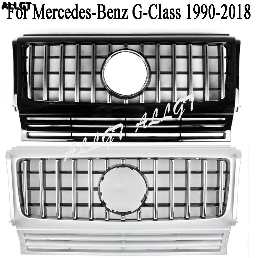 Gril avant Supérieur Pour Mercedes-benz Classe G G550 G500 G350 G55 W463 Grill pour Capot Avant GT Calandre 1990-2015 2016 2017 2018
