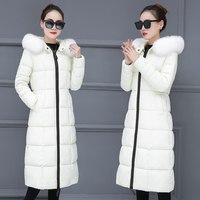 Winter Jacket Women Big Fur Hooded Parka Long Coats Cotton Padded Ladies Winter Coat Women Warm Thicken Jaqueta Feminina Inverno
