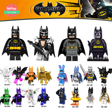 Sola venta DC Super Heroes Batman Batgirl Bathrope Marve Compatible con LegoINGly Building Blocks Toys Figuras para niños 30