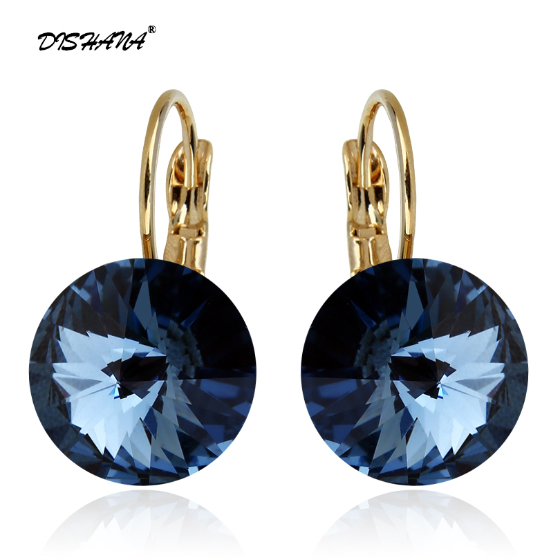 Mode oorbellen 2015 nieuwe vrouwen cadeau Dangle Earring 14mm Super grote kristallen sieraden Earring elegante Drop Earrings (E0097)
