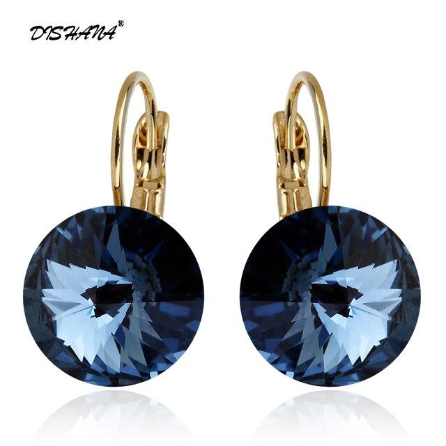 Fashion Earrings 2015 New Women Gift Dangle Earring 14mm Super Big Crystal Jewel