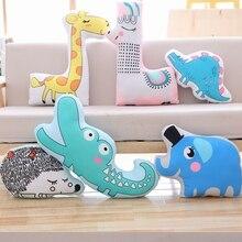 On sale new Cute Animals Soft Plush Pillow Cartoon Giraffe Elephant Alpaca Toys for Kids Sleeping Sofa Cushion Room Decor