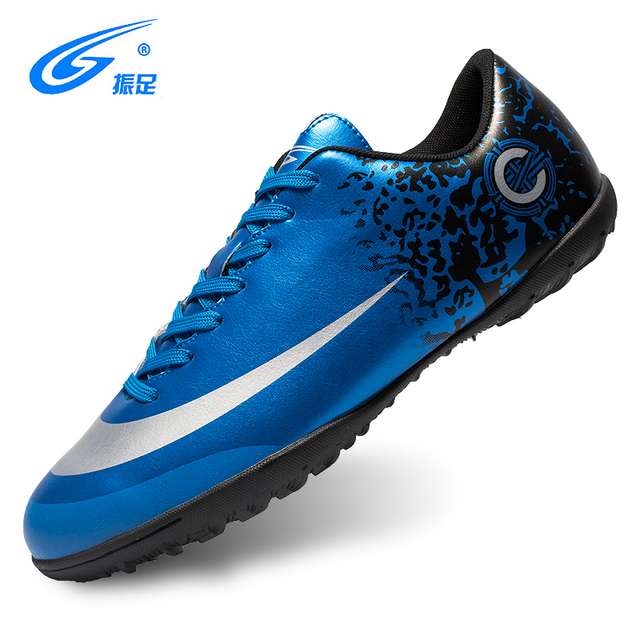 ZHENZU New Football Boots Soccer Shoes Men Superfly Cheap Football Shoes  For Sale Kids Cleats Indoor Soccer Shoes Chuteira Blue 562c8a8c8743
