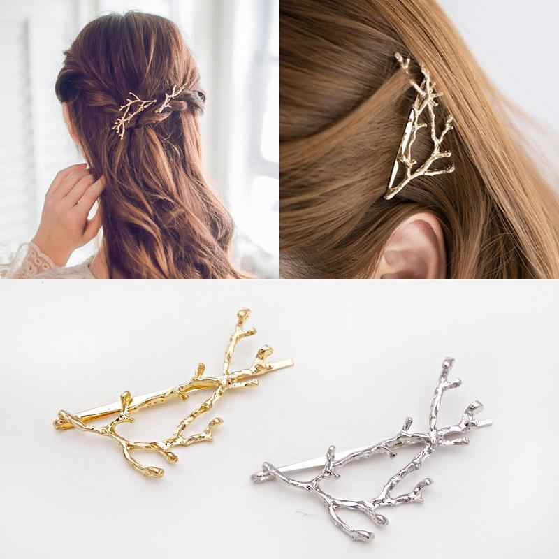 Creative Personality Metal Antler Twig Alloy Unique Hairpin Wild Fashion Princess Clip Gift Bride Hair Accessories For Women