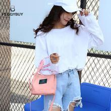 Women Designer Canvas Letter Handbag Bucket Bag Female Print Fashion Messenger Crossbody Bags Dropshipping