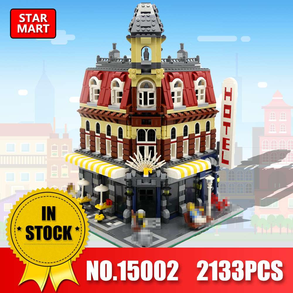 LEPIN 15002 2133Pcs Cafe Corner Model Building Kits Blocks Kid DIY Educational Toy Children day Gift Compatible legoINSe 10182 new lepin 15002 2133pcs cafe corner model building kits blocks kid diy educational toy children day gift brinquedos 10182