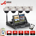 New Plug&Play 7Inch Screen Video Surveillance Kit 1TB HDD 4CH Wireless NVR 720P HD Outdoor Security IP Camera WIFI CCTV System
