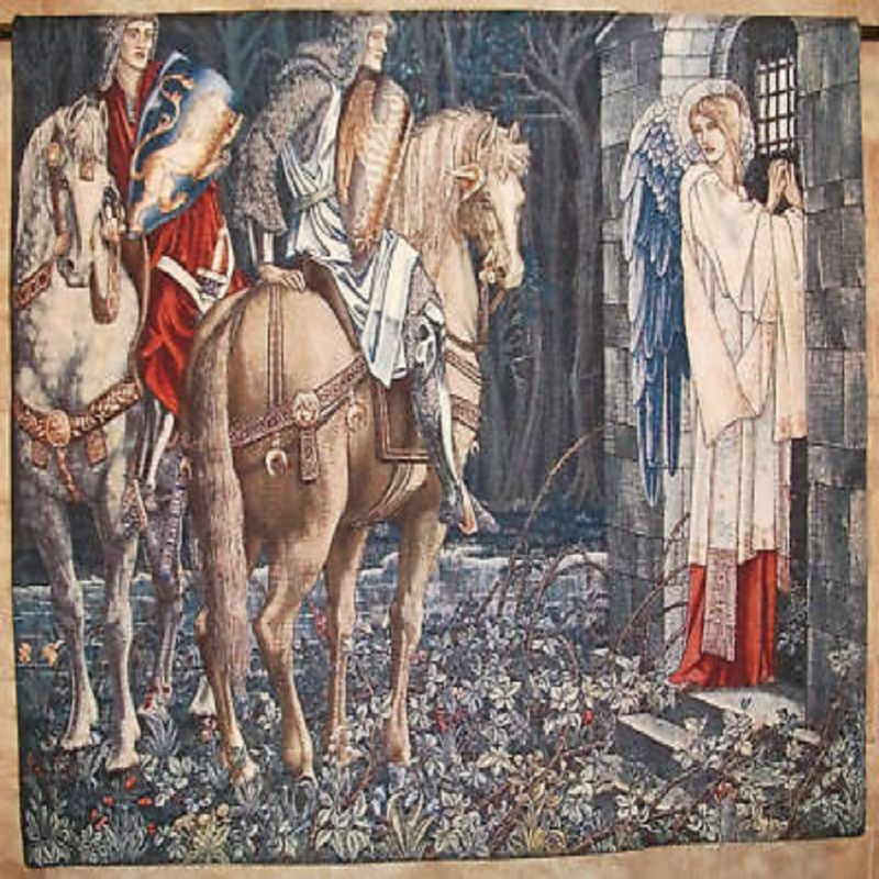 120*100cm Highly Quality ClassicMiddle Ages Holy Grail Series Knight Come Back Home Decorative Textile Wall Hanging Tapestry