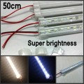 50 * 50cm 24V LED Rigid Strip 5630 5730 led Bar lights 36leds/m + Aluminium profile + pc Cover New