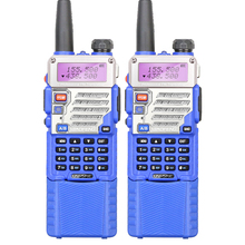 2PCS/LOT Blue Color Dual Display Dual Band 5W Long Battery Commercial Radio Walkie Talkie UV-5RE