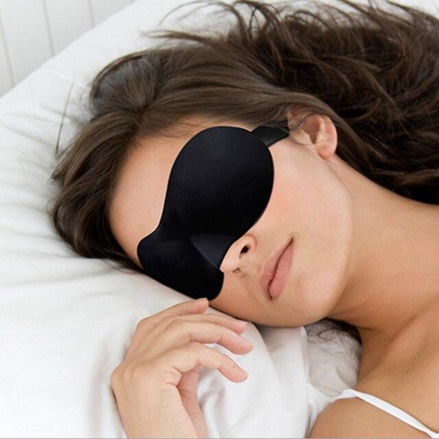 Máscara de sueño 3D máscara de ojo de dormir Natural cubierta de sombra parche de ojo mujeres hombres suave portátil Blindfold viaje ocular parche 1 piezas