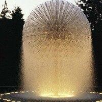 Salida de fábrica de latón de calidad bola de cristal dandelion boquilla de fuente piscina paisaje fuente de música boquilla