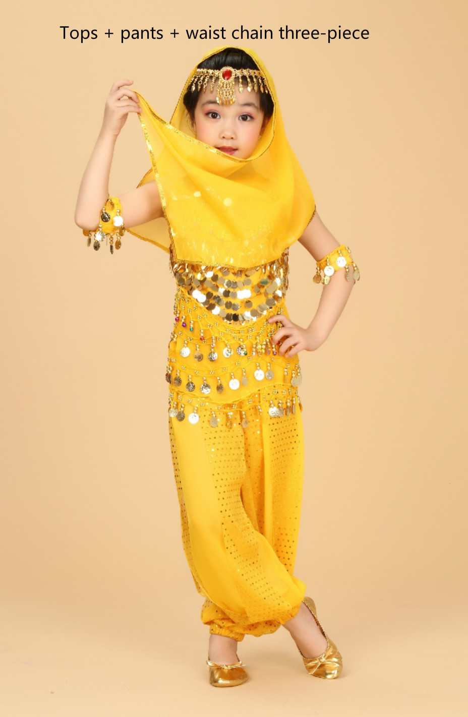 Oriental Indian Dance Costumes Dress For Kids Girls Kids