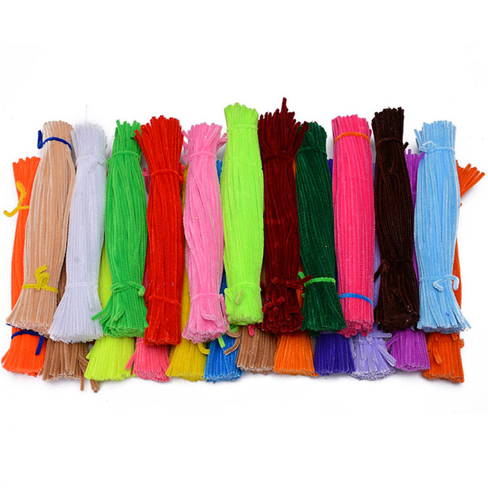 100 PCS Children Babies Kids DIY Plush Shilly Stick Educational Toys Random Color