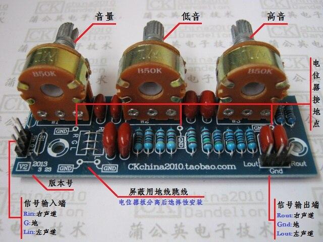 Amplifier Passive Bass Treble Tone Board Volume Control Pre ...