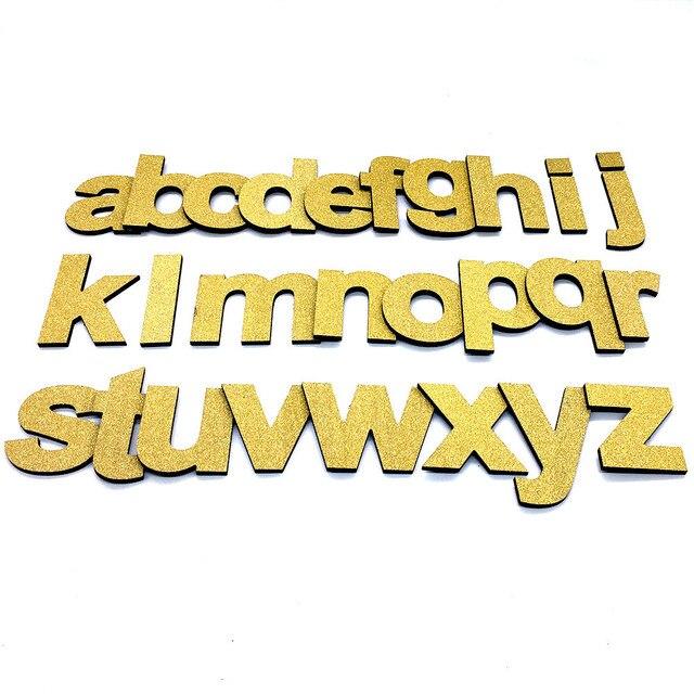 New gold diy wall stickers PVC foam english 3d wall sticker ...