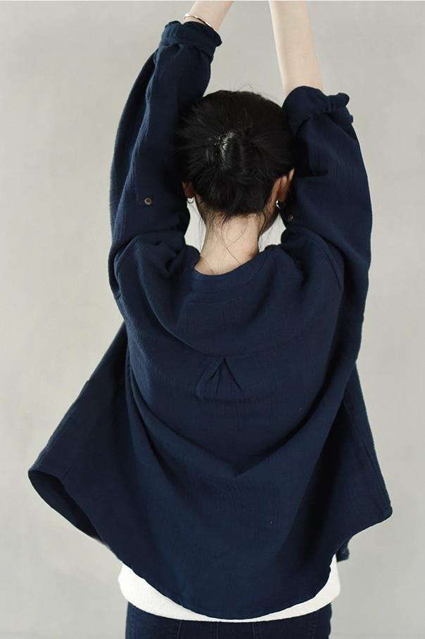 Plus Vestes Printemps Lâche Manteau Confortable Coton Automne Lrcp La Casual Pardessus Femmes Ultra Épais Taille Cardigan Lin xFqTAY6w