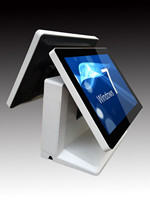 best sell pos system all in one with touch screen/dual screen