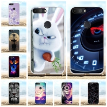 For Alcatel 1S Protective Case Ultra Thin Soft TPU Silicone Cover Rabbit Patterned Coque Bumper