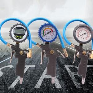 Image 2 - سيارة السيارات الرقمية قياس ضغط الهواء في الإطارات متر الإطارات مضخة نافخ هواء أداة 220PSI