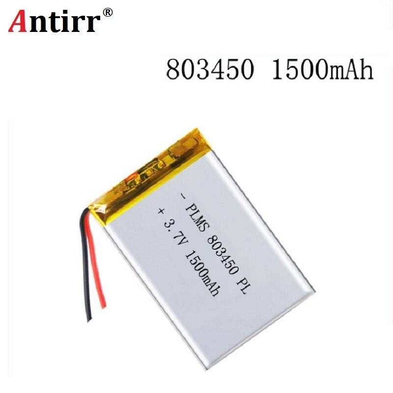 3.7V 1500mAH 803450  PLIB Polymer Lithium Ion / Li-ion Battery For GPS Mp3 Mp4 Mp5 Dvd Bluetooth Model Toy