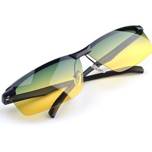 Driver Day Night Vision Glasses Polarized Sunglasses Aluminum Night Vision Goggles Men's Driving Anti-glare Glasse UV400