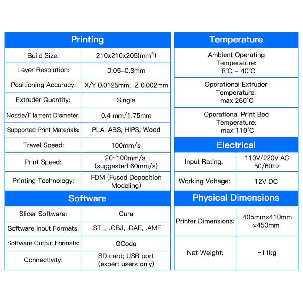 ANYCUBIC 3D Printer Kit I3 Mega With 1Kg PLA Filament Color Touch Screen  Newest Printing DIY Set Impresora 3d Drucker 3d Printer