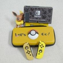Vamos a Pikachus Pokemons de nuevo caso para Nintendo interruptor NS consola accesorios duro portátil de Eevee llevar bolsa de almacenamiento