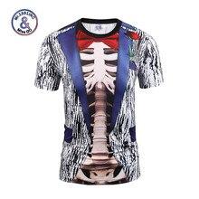 Mr.1991INC Fake Two Pieces T-shirt Fashion Men/Women 3d T-shirt Print Suit Jacket Skull Tops Tees Summer T Shirt