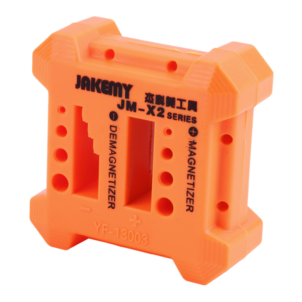 цены High Quality X2 Magnetizer Demagnetizer Tool Orange Screwdriver Magnetic Pick Up Tool Screwdriver Magnetic Degaussing