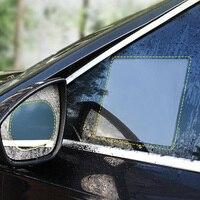 2 pçs/set anti nevoeiro carro espelho janela filme claro anti luz espelho retrovisor do carro película protetora impermeável à prova de chuva etiqueta do carro|Pel. janela| |  -