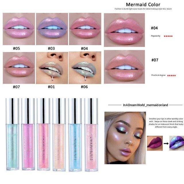 HANDAIYAN Sexy maquillaje brillante brillo de labios de larga duración brillo tinte de labios nutritiva crema hidratante líquido lápiz labial labios cosméticos TSLM2