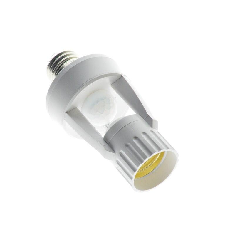 1Pcs AC110V 220V PIR Infrared Motion Sensor E27 Led Light Lamp Base Holder Bulb Socket 360 Degrees Detection