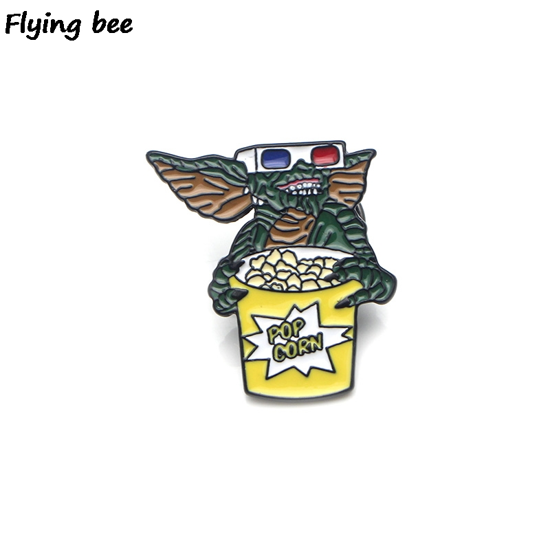 Flyingbee Gremlins Enamel Pin For Clothes Bags Backpack Badge Personality Brooch Shirt Lapel Pins X0223