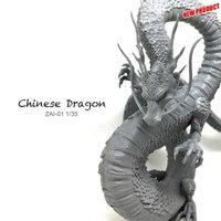 Miniature 1/35 Resin Model Loong Chinese Dragon 90mm Dragon Ball Figure Kit ZAI 01