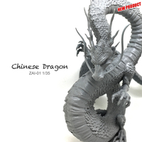 Miniature 1/35 Resin Model Loong Chinese Dragon 90mm Dragon Ball Figure Kit ZAI 01