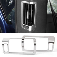 Zilver Interieur Air Vent Outlet Cover Protector Trim Decoratie Voor Volvo XC60 2th Generatie 2018 / XC90 2015 2016 2017 2018(China)