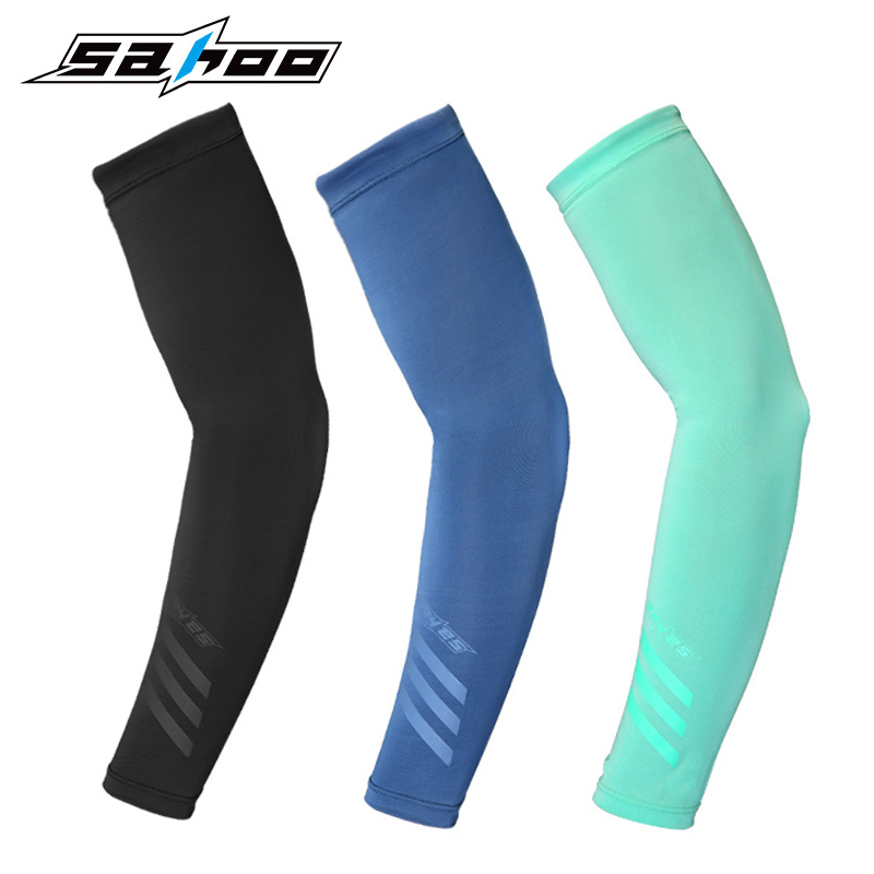 Arm Sleeves Background Bloom Mens Sun UV Protection Sleeves Arm Warmers Cool Long Set Covers White