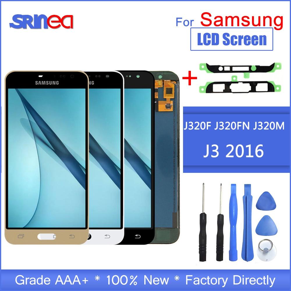 Замена ЖК дисплея для Samsung Galaxy J3 2016 J320 J320F J320H ЖК дисплей с сенсорным экраном дигитайзер сборка инструменты управления яркостью-in ЖК-экраны для мобильного телефона from Мобильные телефоны и телекоммуникации