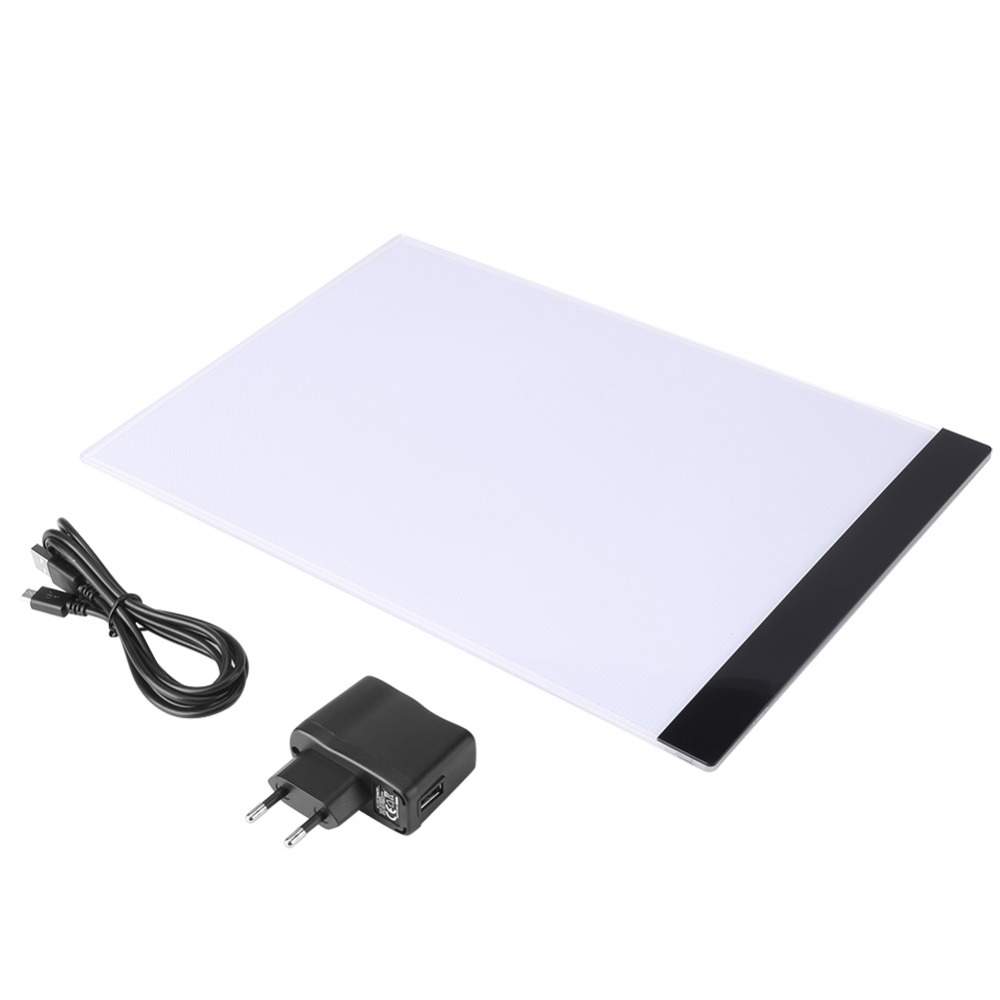 A4 LED Art Stencil Board Light Pad Tracing Drawing Table Board for Kids Artists Drawing Pad