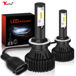 16000Lm 60W H27 H1 H3 880 881 Led Headlight Kits ZES 6000K White Led Car Driving Running Fog Lights H27W1 H27W2 H27W Led Lamps(China)
