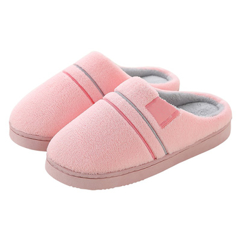 Shoes Women Slippers Solid Plush Indoor Flat Shoes For Adult Indoor Bedroom Shoes Woman Slippers