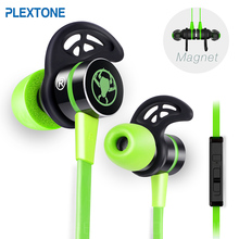 PLEXTONE G20 Gaming Headset With Microphone In-ear Wired Magnetic Stereo With Mic Earbuds Computer Earphone For Sport Phone plextone bx343 wireless bluetooth earphones ipx5 waterproof earbuds magnetic headset for phone sport with microphone