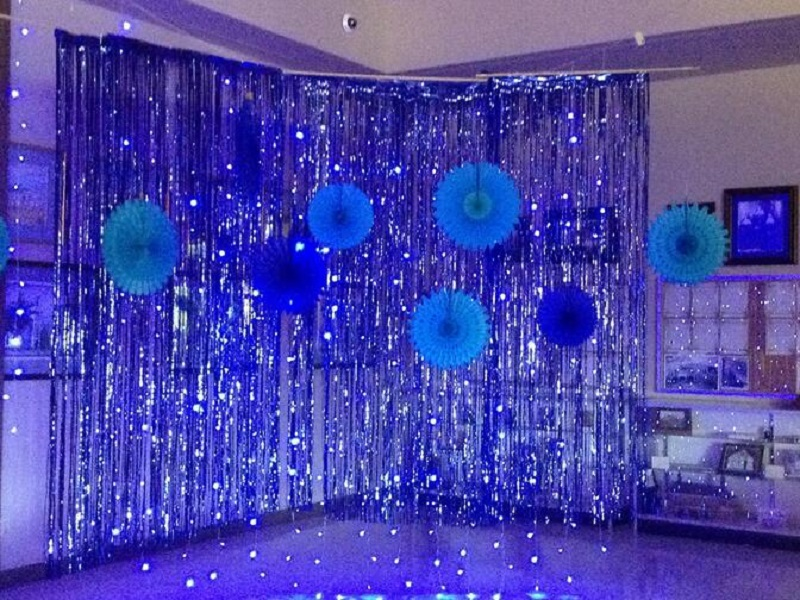 1x2 Meters Foil Fringe Tinsel Curtain Party Background