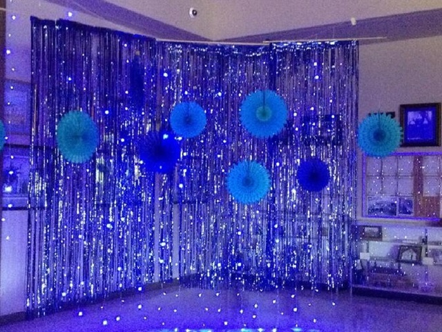 1x2 meters foil fringe tinsel curtain party background wall wedding